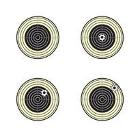 design de alvo de rifle de ar tradicional vetor