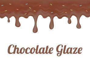 glacê de chocolate donut vetor