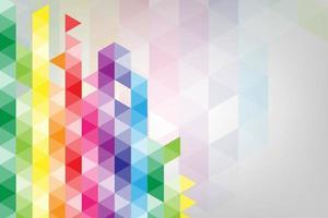 fundo colorido abstrato do vetor criado a partir de formas geométricas.