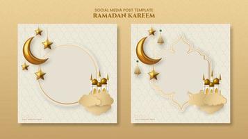 modelo de banner islâmico ramadan kareem vetor