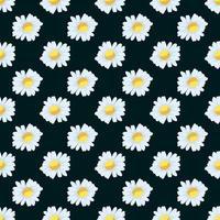flores de camomila padrão sem emenda vetor