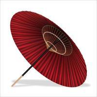 guarda-chuva estilo japonês sobre fundo branco vetor