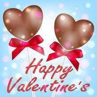 feliz dia dos namorados com coração de chocolate vetor