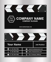 modelo de cartão de nome comercial com tema de claquete simples para diretor de cinema vetor