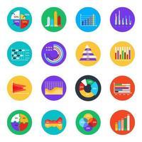 infográficos e gráficos de negócios vetor