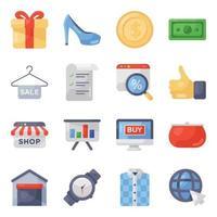 compras e atendimento ao cliente vetor