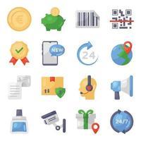 compras e comércio eletrônico vetor