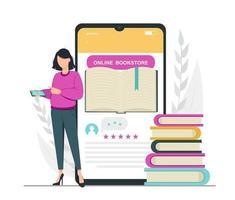 amante de livros, leitura, conceito de biblioteca vetor