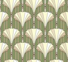 padrão abstrato de decoração arquitetônica em estilo retro. geométrico sem costura texturizado fundo vintage. vetor