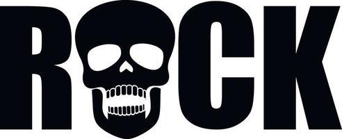 rock caveira-grunge vintage design camisetas vetor