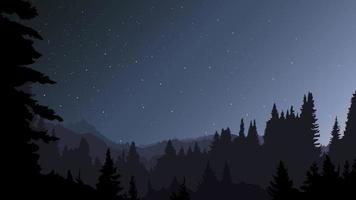 floresta à noite. vetor