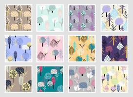colorido moderno sem costura exótico padrão com plantas tropicais. design abstrato moderno para papel, papel de parede, capa, tecido e outros usuários. ilustração vetorial. vetor