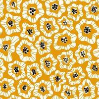 Padrão simples e brilhante sem costura com flores abstratas vetor