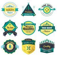 conjunto de ícones de emblemas