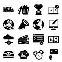 conjunto de ícones bancários e de transações vetor