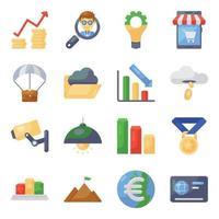 conjunto de ícones modernos de bancos e finanças vetor