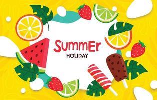 fundo do elemento alimentar de verão vetor