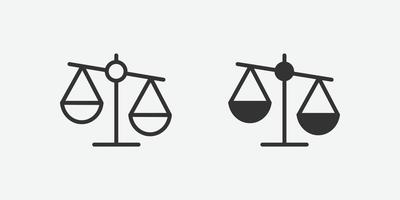 ícone isolado de vetor de símbolo de equilíbrio