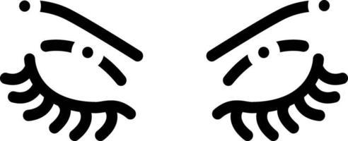 ícone de linha para sobrancelha vetor