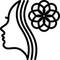ícone de linha para esteticista vetor