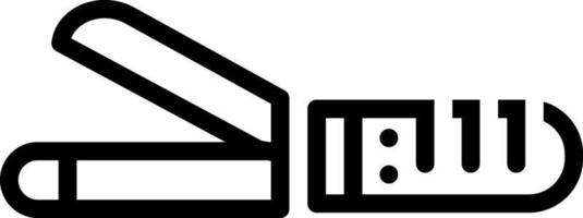 ícone de linha para ferros de ondulação vetor
