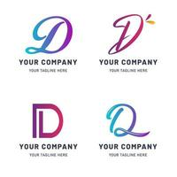 coleção de modelo de logotipo d vetor