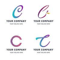 coleção de modelo de logotipo c vetor