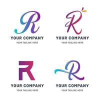 coleção de modelos de logotipo r vetor