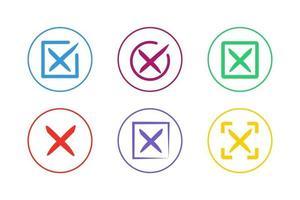 conjunto de ícones de cruz colorida vetor