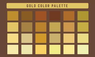 paleta de cores do vetor ouro