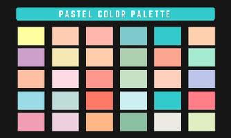 paleta de cores vetoriais pastel vetor