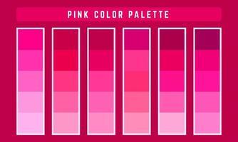 paleta de cores rosa vetor