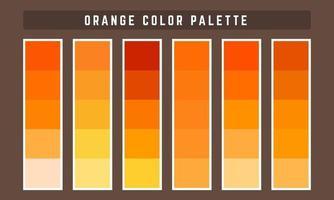 paleta de cores vetoriais laranja vetor