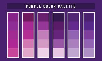 paleta de cores vetoriais roxas vetor