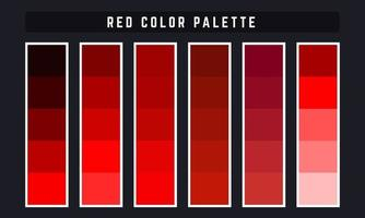 paleta de cores vermelhas vetor