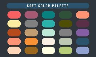 paleta de cores suaves de vetor