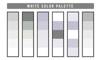 paleta de cores de vetor branco