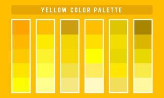paleta de cores do vetor amarelo
