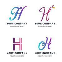 coleção de modelo de logotipo h vetor