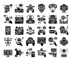ícones de vetor de glifo ar