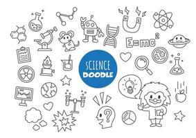 doodle kawaii da ciência vetor