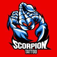 Tatuagem De Escorpião vetor