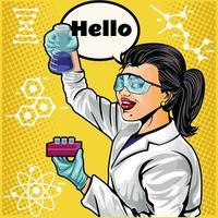 cientista feminina vetor