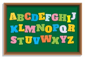 Alfabeto temático da escola do estilo liso vetor