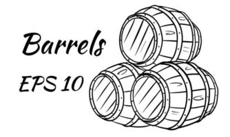 barril de vinho ou cerveja. vetor