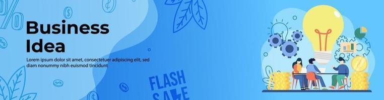 ideia de negócio web banner design vetor