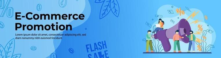 design de banner da web para promoção de comércio eletrônico vetor