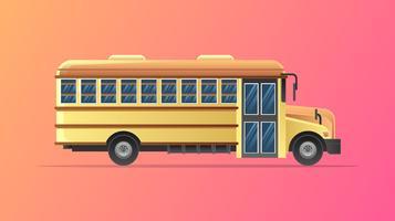 Vetor de ônibus escolar