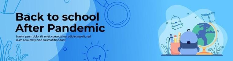 design de banner web educacional vetor
