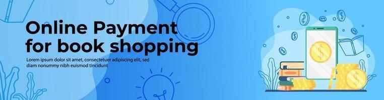 design de banner web para compras online vetor